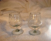 Etched Crystal Brandy Snifters - Set of Two (2)