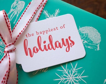 Letterpress Christmas Gift Tags - your choice