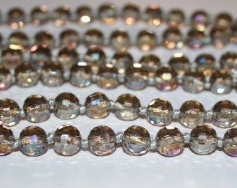 8 mm Faceted Crystal beads. Beads Czech glass.