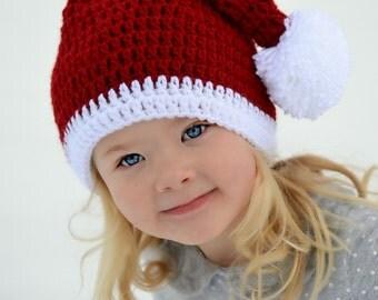 Santa Hat - Baby to Kids sizes - Toddler Santa Hat - Christmas Photography Prop - Santas Little Helper Hat - Baby Santa Hat