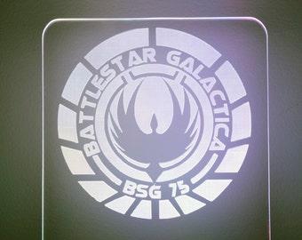 Battlestar Galactica Lighted LED Acrylic Sign