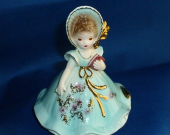 Josef Originals Figurine, Possibly Titled Church Bell, Carrying a Book, Japan