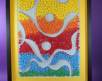 Quilling work for wall decoration or gift