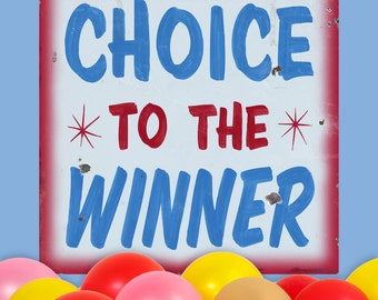 Choice to Winner Red Carnival Game Wall Decal - #59415