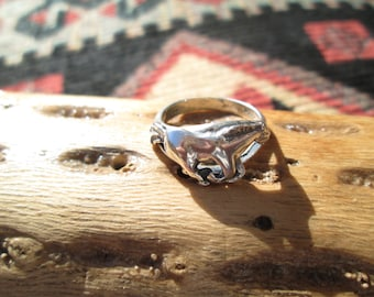 Sterling Silver Galloping Horse Ring Size 6.5
