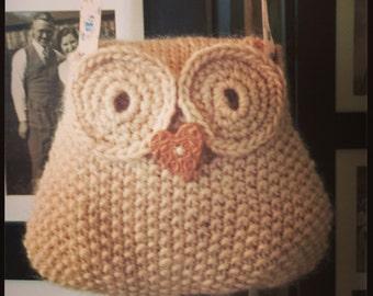 Owl Bag Knitting Pattern