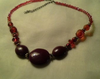 Vintage Cherry Red Necklace