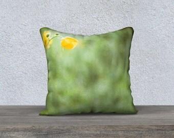 Home Decor, Buttercup, Flower, Pillow, Size 18 x 18