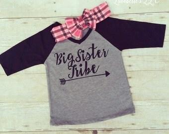 Big Sister Shirt, Big Sister Outfit, Big Sister, Big Sister Graphic Tee, Big Sister, Big Sister Raglan, Sister Tribe, Tribe Shirt