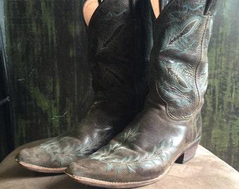 Vintage Justin Western Cowboy Boots