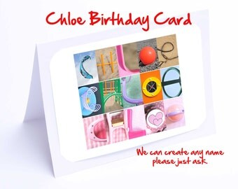 Chloe Personalised Birthday Card