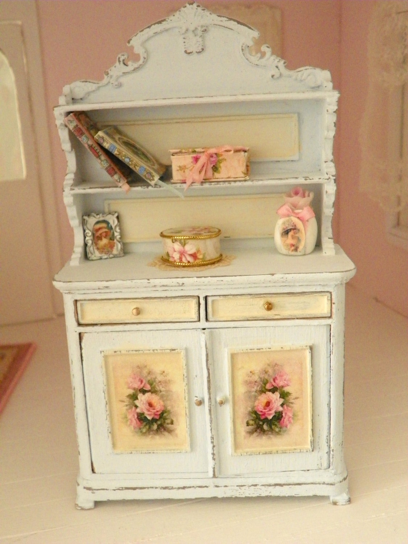 shabby chic miniature cupboard. Black Bedroom Furniture Sets. Home Design Ideas