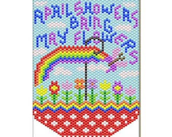 April Showers Bring May Flowers Bead banner Pattern