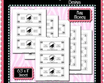 Piano Play Money Template Instant Download PSD and PNG Formats (M160) Digital Bottlecap Collage Sheet Template