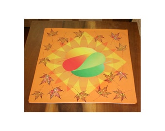 Altar Cloth or Tarot Cloth - Yin-Yang Leaves - Wicca or Pagan - Designed by Wendy Wilson of Magic in Your Living Room