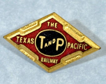 Texas Pacific Railroad Lapel Pin