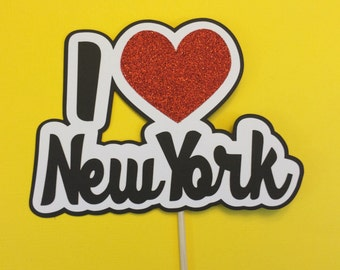 Photo Booth Props- New York Props With Glitter- Photo Booth