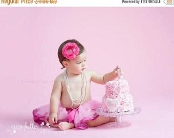 ON SALE Delaney, Hot Pink Headband, Hot Pink Flower Headband, Baby Girl Headband, Baby Headband, Photo Prop, Newborn Prop, Baby Girl Photo P