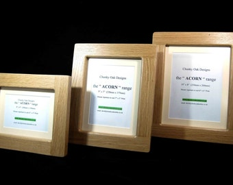 12 x 10 oak photo picture frame hand crafted available in various sizes finishes