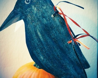 Raven Halloween Card