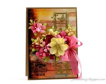 Handmade Card / Hand-Stamped Card / Happy Birthday Card / Glückwunschkarten
