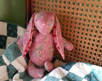 Memory bunny, wrap scrap bunny, memory stuffed animal, send your own fabric