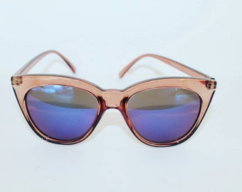 July- Reflector Sunglasses // Retro // Cat Eye // Sqaure Cat Eye// Cateyes//