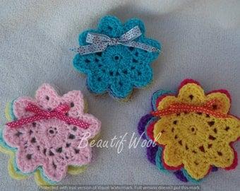 Crochet Flower Pretty Coasters