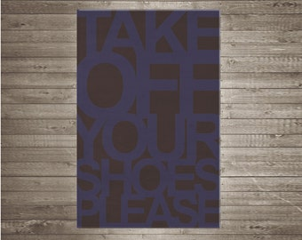 Take off your shoes rug children rug typographic quote colored funny bathroom bedroom play mat green pink brown white grey brown blue
