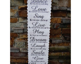 Dance Like No One Is Watching Home Decor Sign - Wall Hanging, Decoration, Love, Live, Laugh
