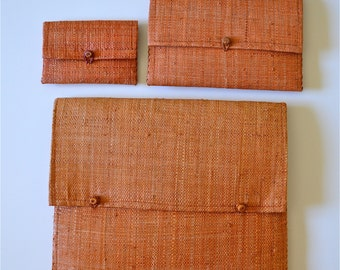 Vintage Woven Envelope Clutch With Two Small Pouches -- Perfect Casual Clutch!