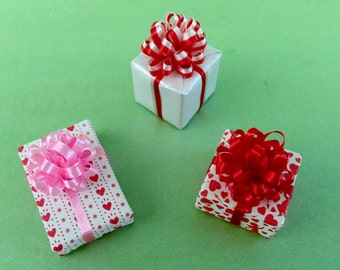 Three Tiny Valentine Gift Packages