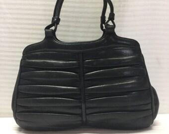 Sorelli Italy, Leather Handbag, 1950's, 1960s, Blue Leather Purse, Bag