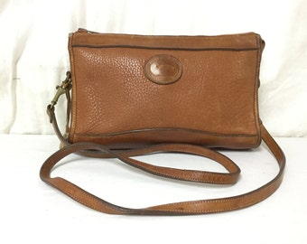 Free Ship Dooney and Bourke All Weather Leather Purse Brown Shoulder Bag
