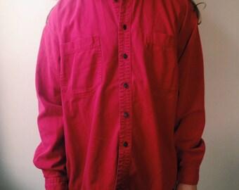 Men's Vintage Red Levis Button Up Shirt