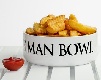 Personalised Man Bowl - Gift for Him - Gift For Dad - Gift for Husband - Funny Gift - Gift for Brother - Always Hungry - FREE UK DELIVERY