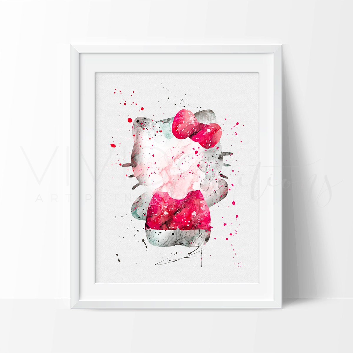 Hello kitty crib for sale - Hello Kitty Watercolor Print Baby Girl Nursery Wall Art Kids Room Decor Bedroom Decor Home Decor Birthday Gift No 15