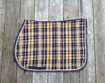 Custom english saddle pads