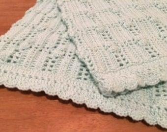 Crochet Baby Blanket Green