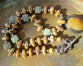 Agate necklace, boho chic necklace, silver necklace, Picasso necklace,