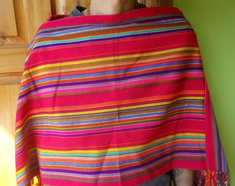 Hand made brightly colored Guatemalan pull over. Boho chic