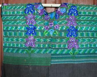 Vintage Huipil Handwoven Guatemala Boho chic Mayan Art