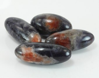 Iolite and Sunstone Lingam, O-244