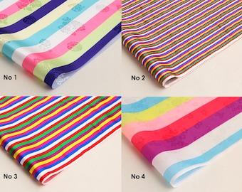 Korean traditional pattern 'Saekdong' fabric hanbok Colorful stripe pattern fabric