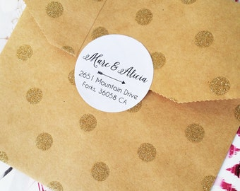 Custom Wedding Stickers, Return Address Labels, Wedding Address Labels, Inviation Seal, 60 Address Stickers