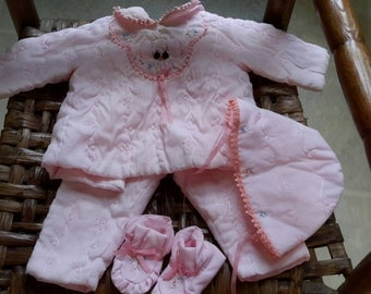 Vintage Homemade Baby Clothes Set 1970s