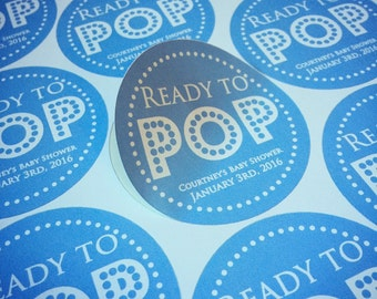 Ready to Pop Baby Shower Stickers