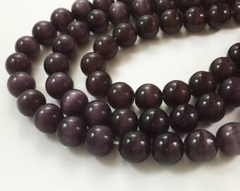 2 Full Strands 10mm Cat Eye Beads , Wholesale Cat Eye Gemstone