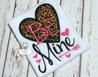 Be Mine Shirt or Bodysuit, Be Mine Valentine Shirt, Valentine Shirt, Love Shirt, Girl Valentine Shirt