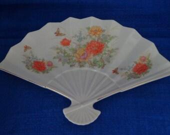 Vintage Ceramic Fan, Ceramic Fan Decor,Japan Collectable Ceramic Fan